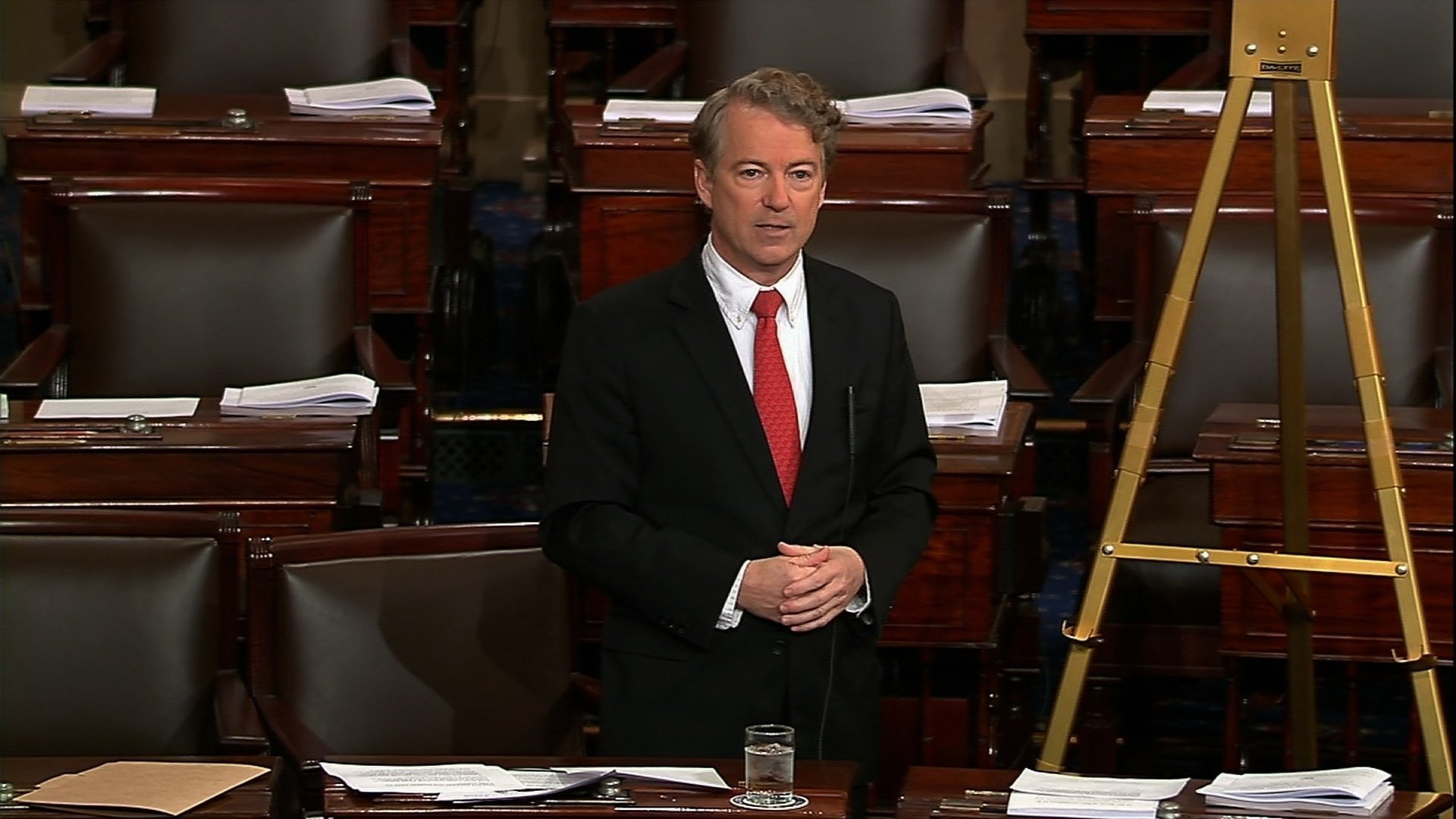 Kentucky Sen. Rand Paul is speaking on the Senate floor, holding up a two-year budget deal with the hours ticking away toward a midnight deadline before the government starts shutting down.