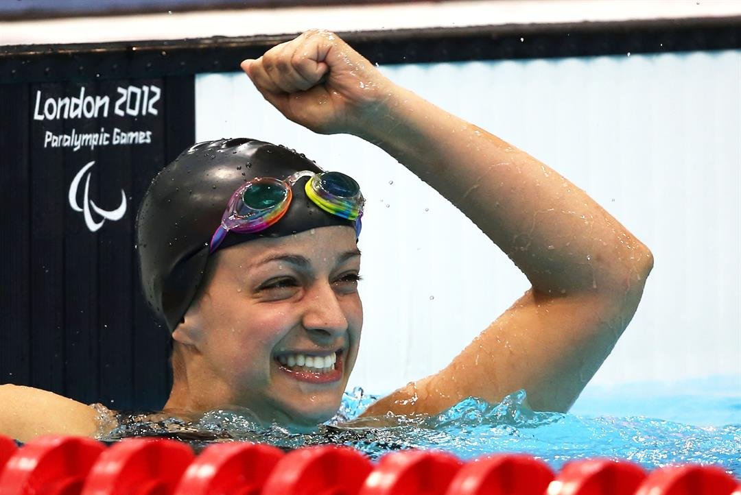 Victoria Arlen won a gold medal in the 100-meter freestyle at the London 2012 Paralympic Games.