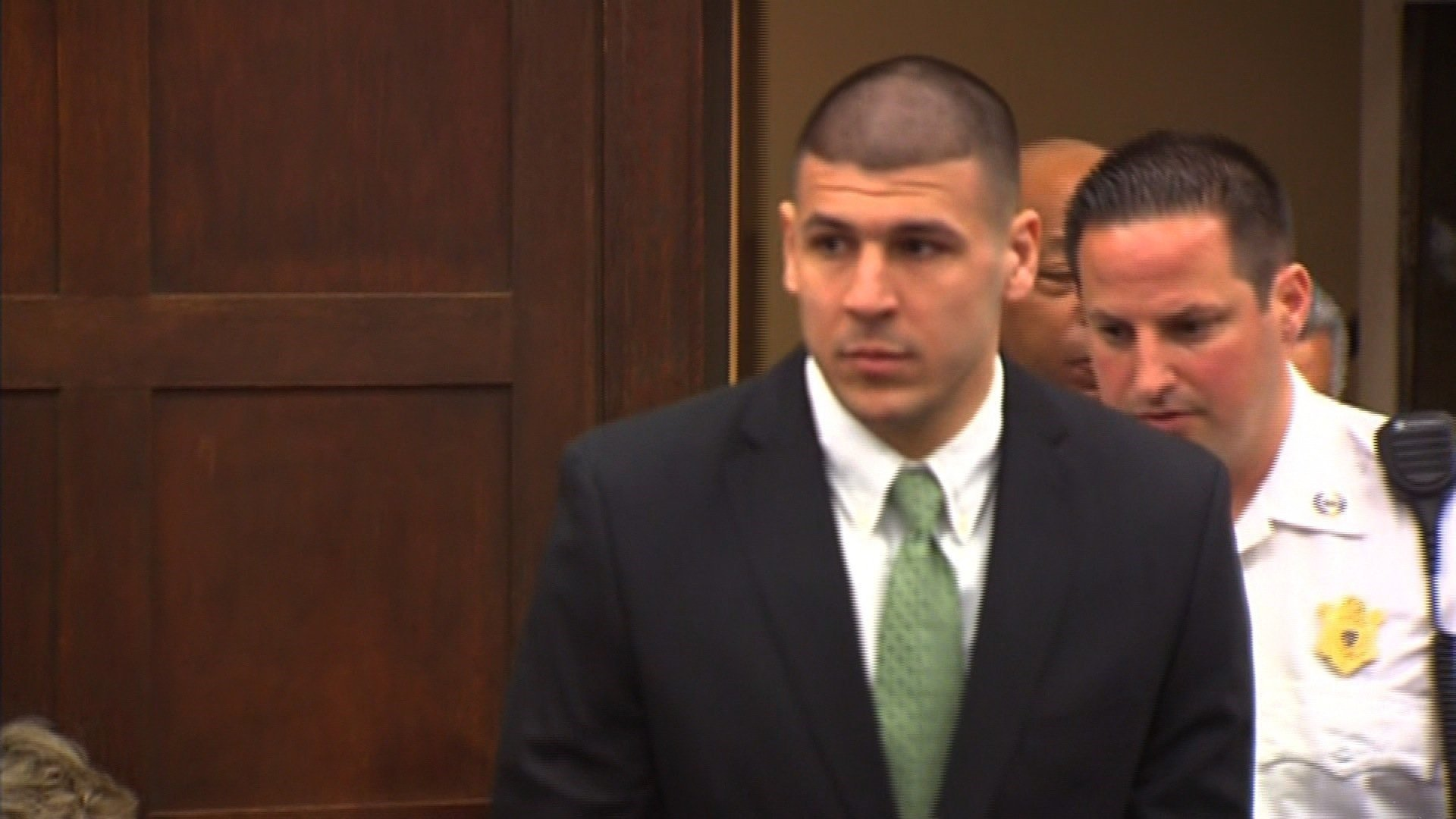 Aaron Hernandez was a star player for the New England Patriots when he was arrested in 2013 for the murder of Odin Lloyd. (File Photo)