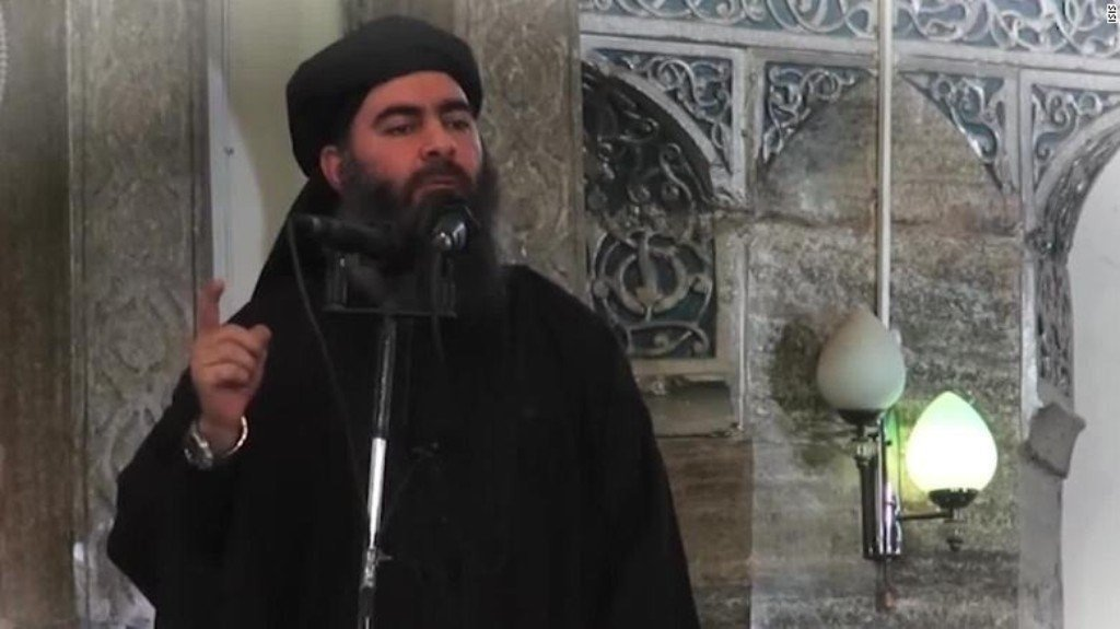 Al-Baghdadi wounded in airstrike near Raqqa in May