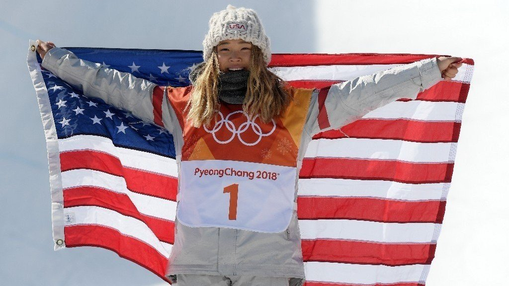 Chloe Kim 17 makes history as youngest to win gold in the women's halfpipe at the Pyeong Chang Winter Olympics