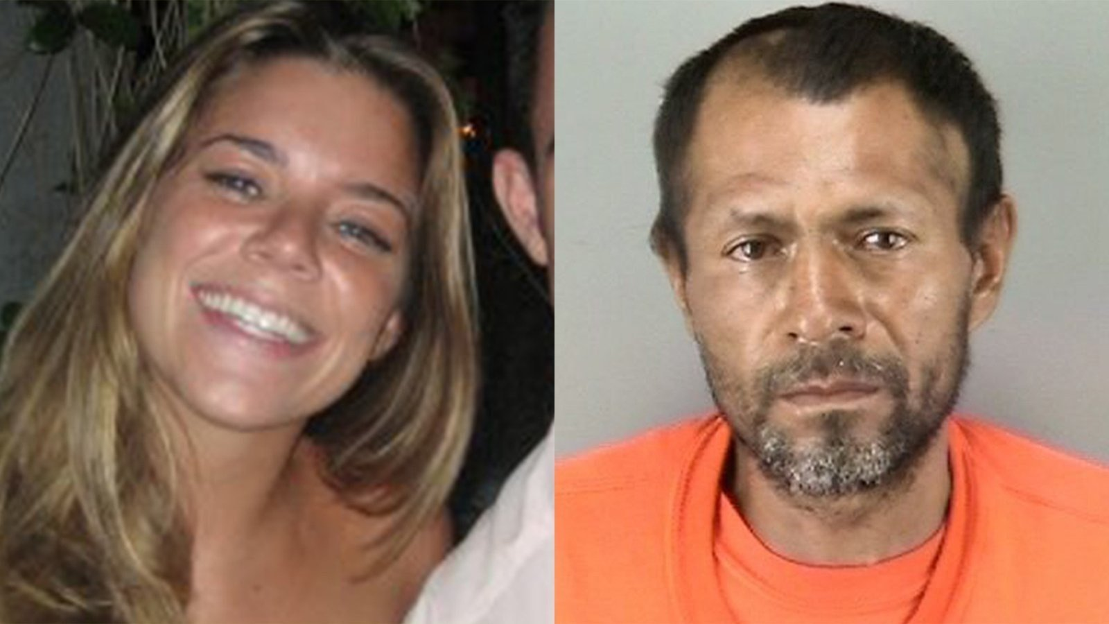 Kate Steinle (left), 32, was killed in July 2015. Jose Ines Garcia Zarate (right) was acquitted December 2017 in the death of Steinle. He was sentenced to three years in prison as he faces two federal gun charges related to the case.