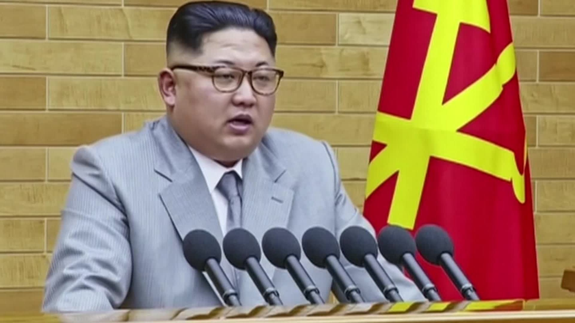 Kim Jong Un is seen here speaking on New Year's Day Address. (File Photo)