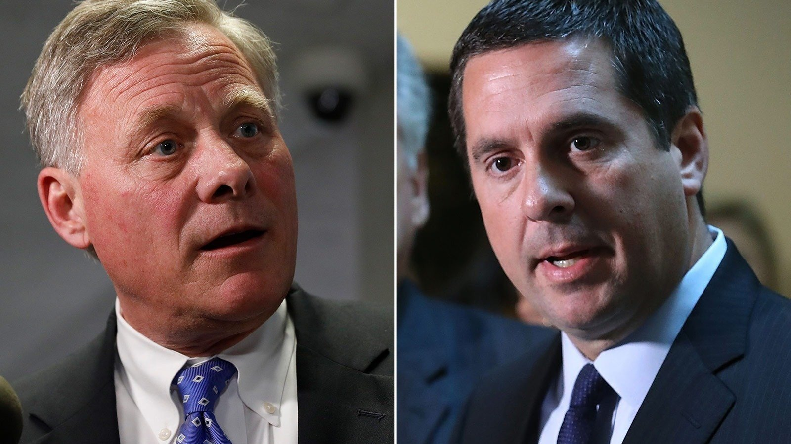 Senate Intelligence Chairman Richard Burr publicly and privately is sending a message to his colleagues: He doesn't want to be like Devin Nunes.  Credit: Aaron P. Bernstein/Mark Wilson/Getty Images