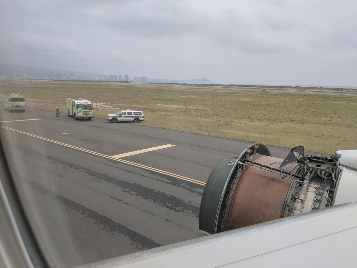 A United flight made an emergency landing in Honolulu on Tuesday after a piece of the cover came off the right engine on a flight from San Francisco, United spokesman Charles Hobart said.