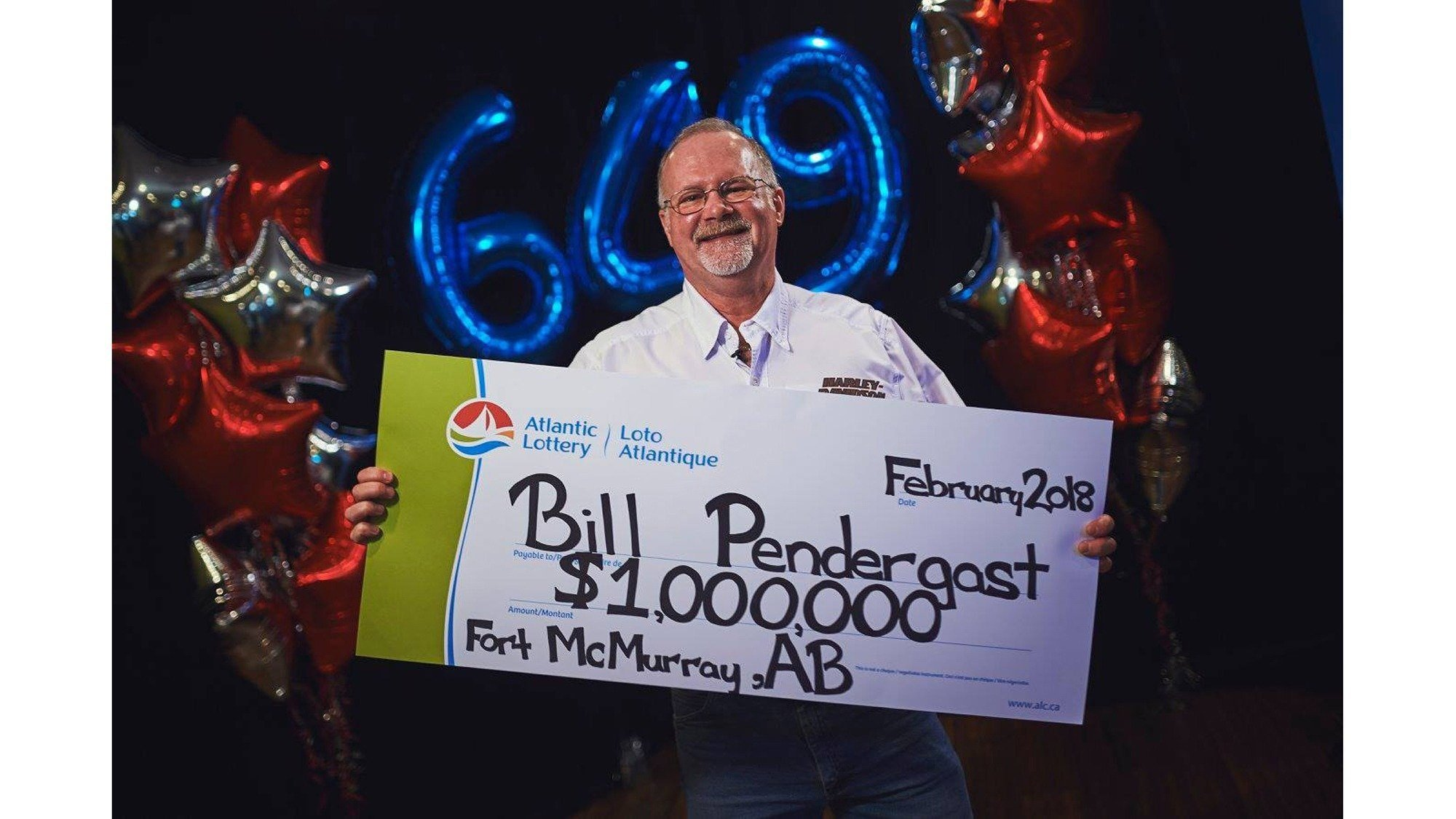 Bill Pendergast has spent the last two years rebuilding his home, which burnt down when a wildfire raged through Fort McMurray, Alberta. Now, he is $1 million richer and able to finish restoring his family home thanks to the Atlantic Lotto.
