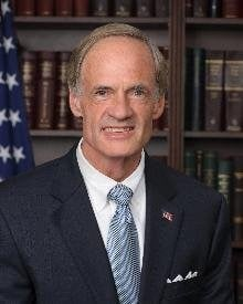 President Donald Trump suggested Wednesday that a 25 cent increase in gas and diesel taxes would be needed to help pay for the administration's new infrastructure plan, according to Democratic Sen. Tom Carper.