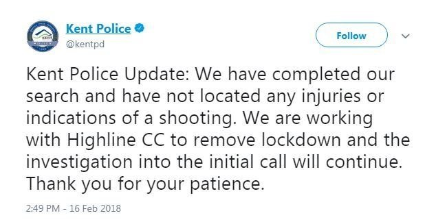 Highline College locked down for reports of gunfire on campus