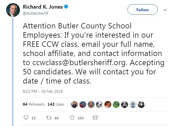 Sheriff: 'I am going to offer free concealed carry classes to teachers'
