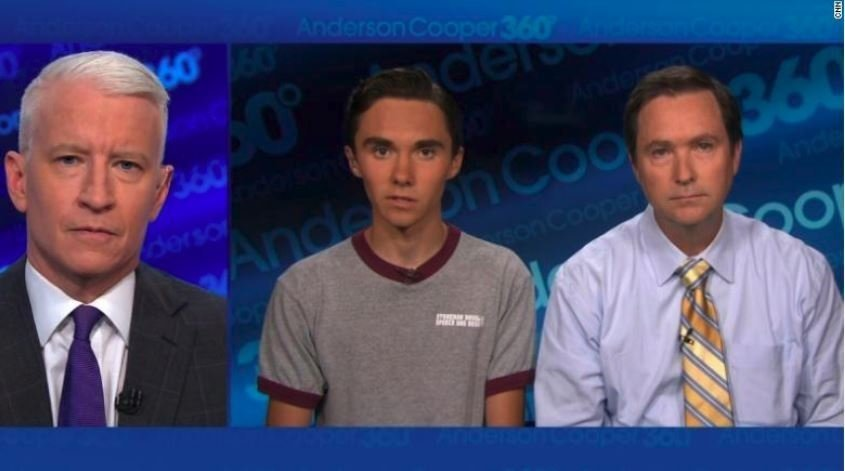 David Hogg 17 speaks with CNN's Anderson Cooper about the mass shooting at Marjory Stoneman Douglas High