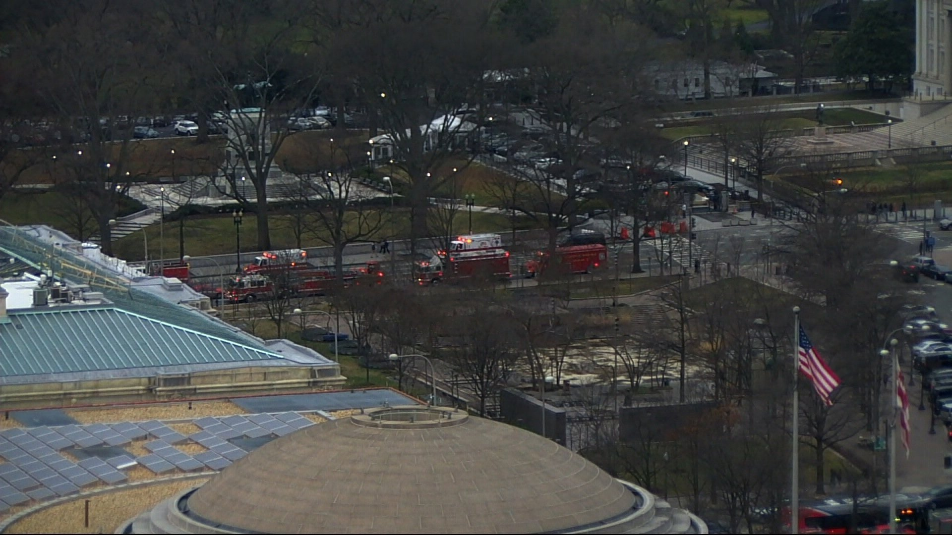 White House in 'lockdown' after female driver 'rams' vehicle into security gate