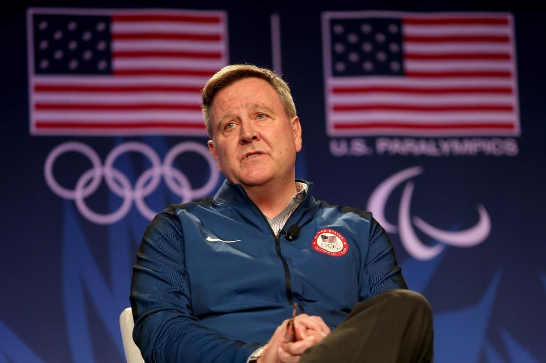Scott Blackmun is stepping down as the chief executive of the United States Olympic Committee, the organization announced Wednesday.
