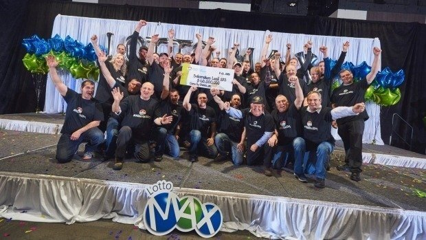 Lottery jackpot makes 31 workers at same Canadian oil refinery overnight millionaires