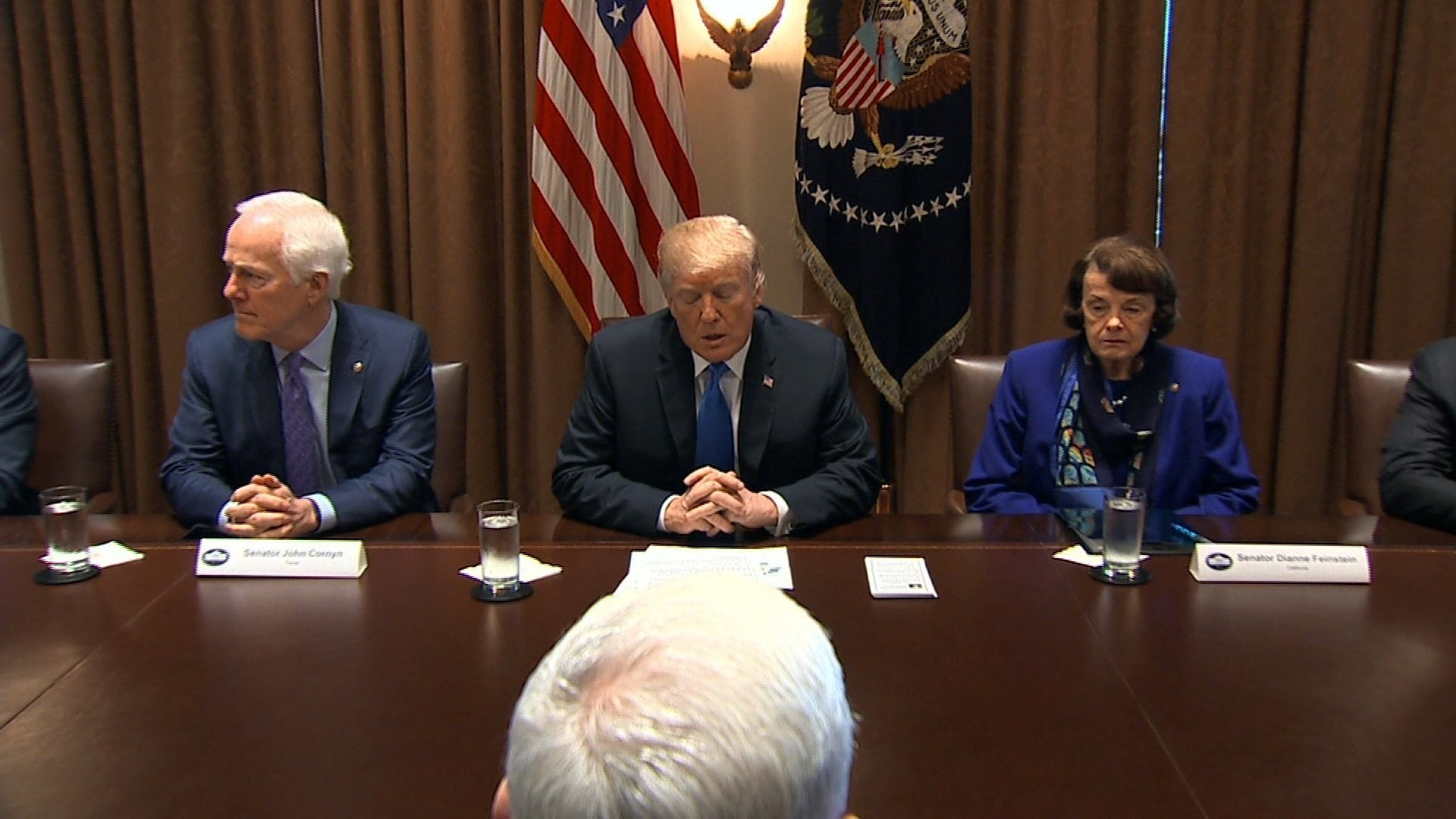 President Trump Meets With Republicans, Democrats on Gun Control