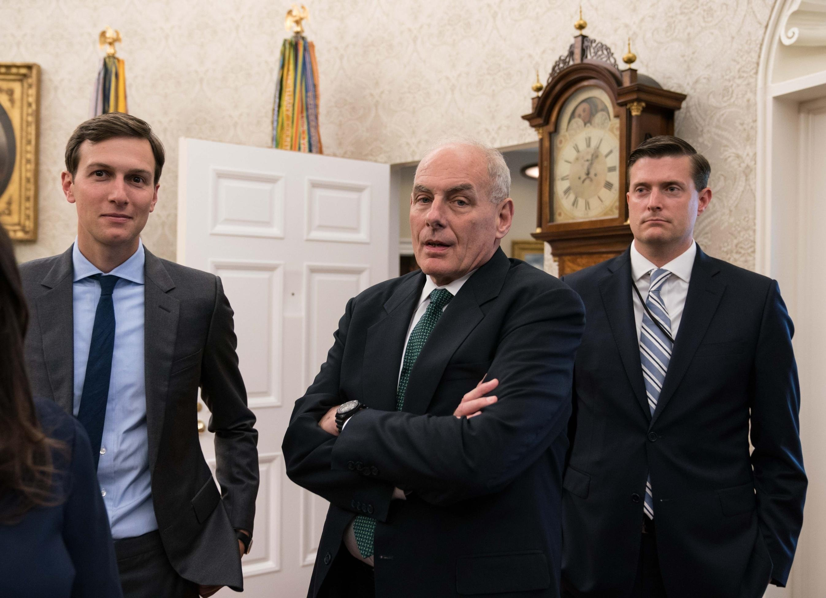 John Kelly jokes chief of staff job is God's punishment