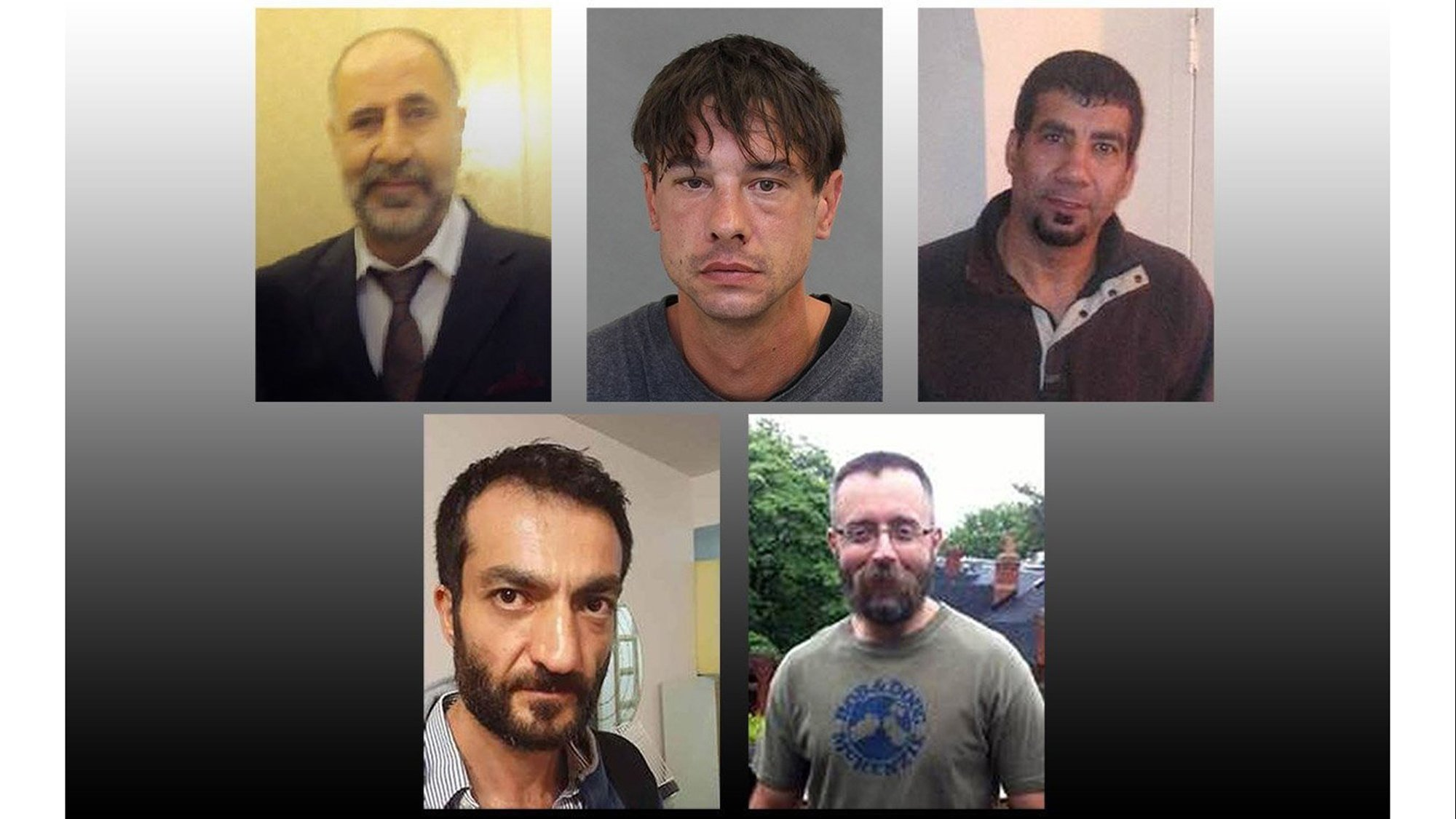 The five victims have been identified as from top left Majeed Kayhan 58 Dean Lisowick 47 Soroush Mahmudi 50 Selim Esen 44 and Andrew Kinsman 49 according to Toronto Police Service