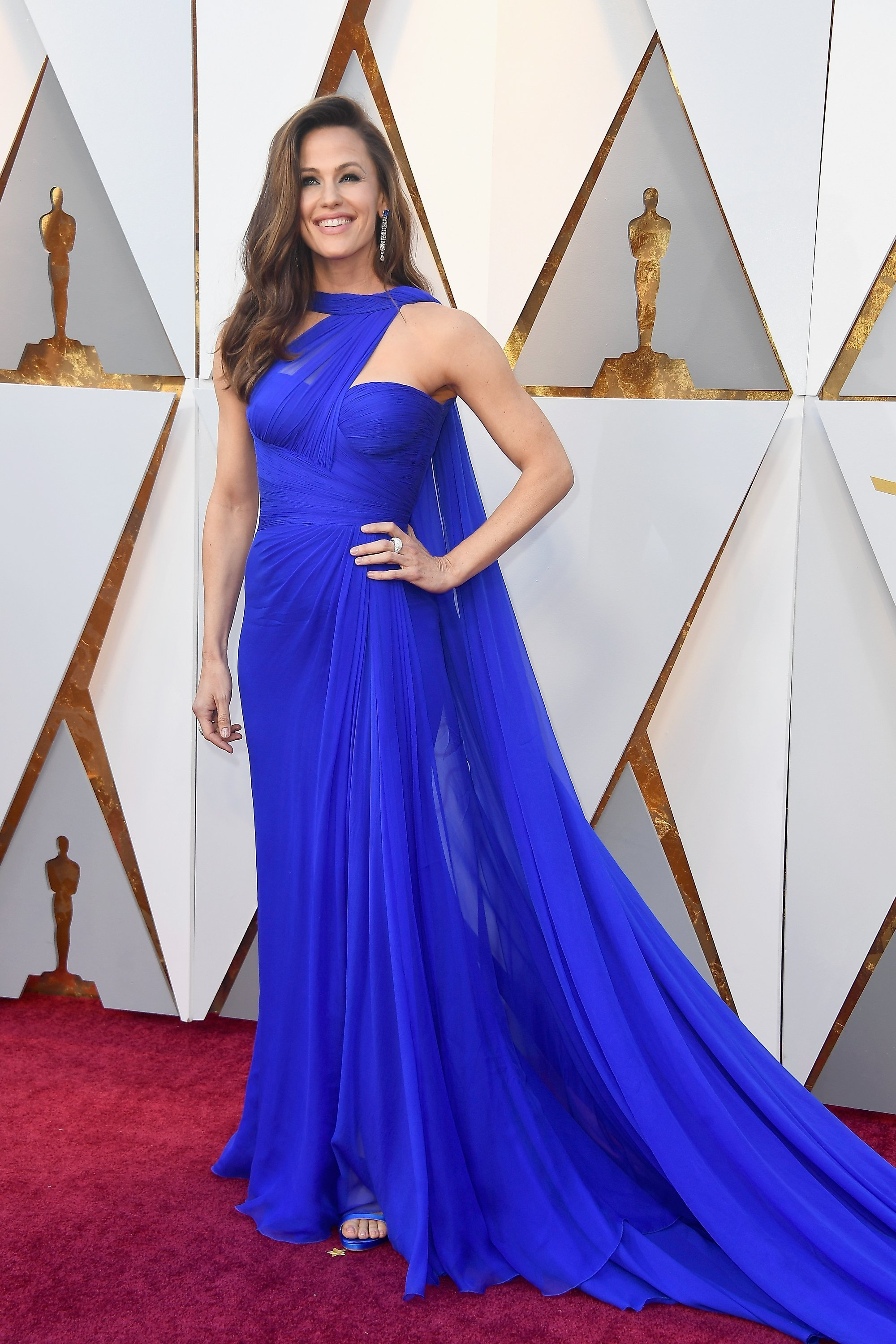 Actress Jennifer Garner attends the 90th annual Academy Awards on Sunday.