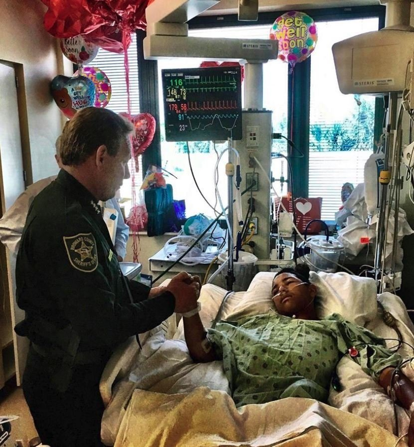 Anthony Borges, a student wounded in the Parkland school massacre plans to sue his school district and the Broward County Sheriff's Office, his attorney said. Broward County Sheriff Scott Israel visited Anthony in the hospital.
