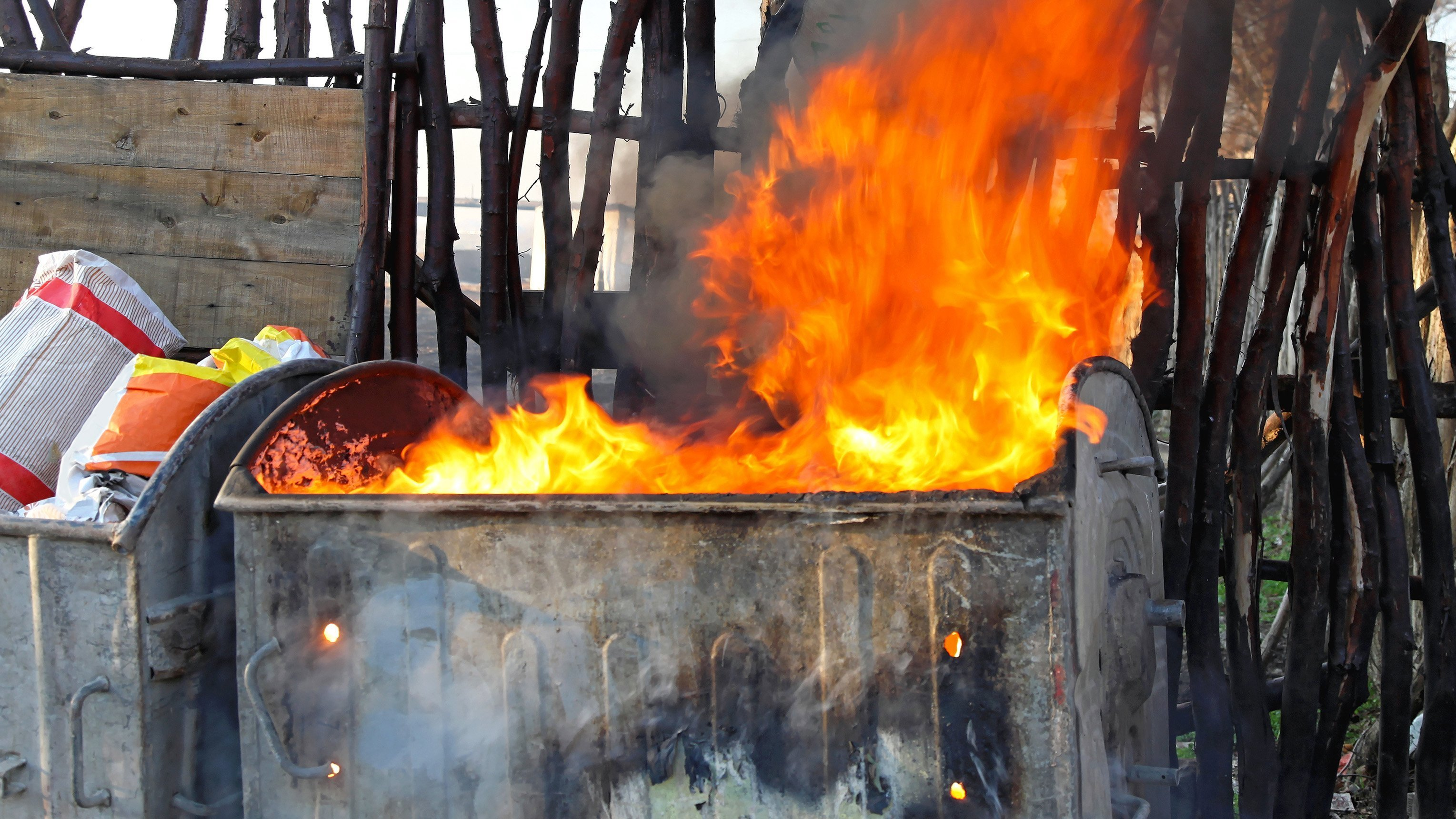 """The new official definition of dumpster fire is """"an utterly calamitous or mismanaged situation or occurrence.""""   CREDIT: Baloncici/iStockphoto/Getty Images"""