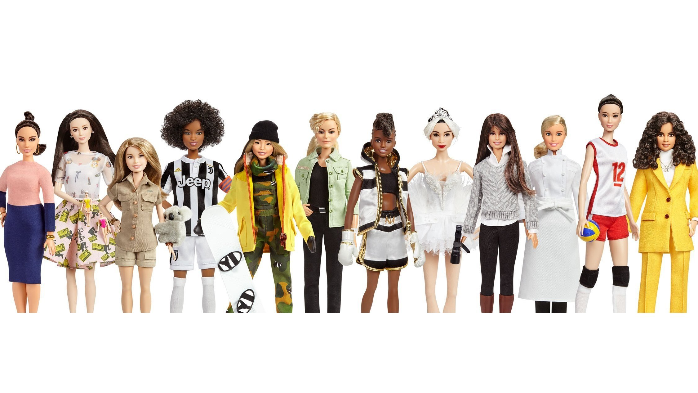 "Mattel introduced dolls in two separate series of Barbies: ""Inspiring Women,"" based on historical figures, and new additions to its ""Shero"" line of dolls named for inspirational contemporary women."