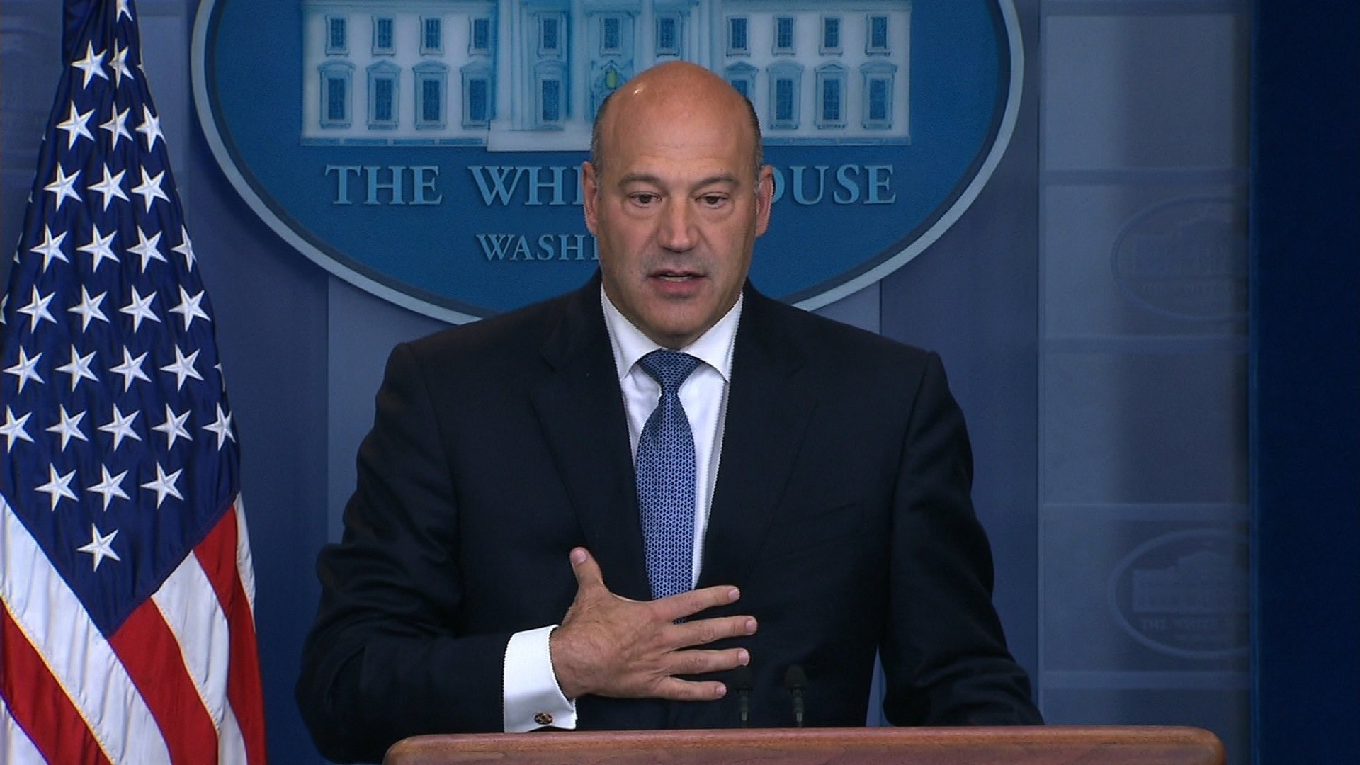 President Donald Trump's top economic adviser Gary Cohn is resigning, the White House announced on Tuesday.