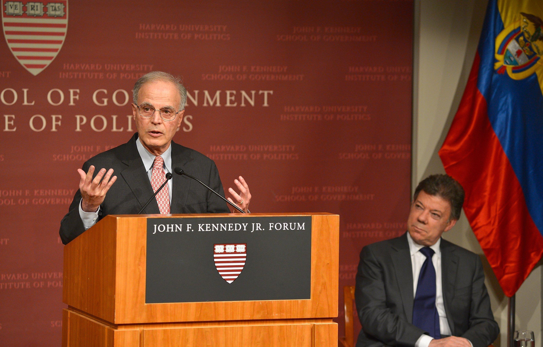 Harvard Professor Jorge I. Dominguez at the John F. Kennedy Jr. Forum Institute of Politics on September 25, 2013 in Boston, Massachusetts.