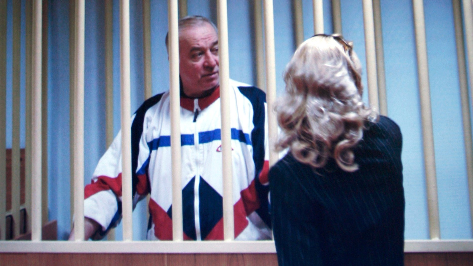Sergei Skripal pictured in a Moscow courtroom in 2006.