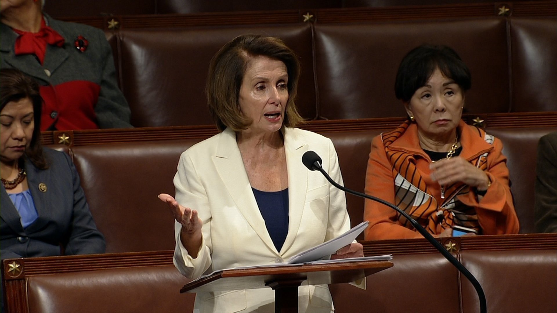 House Minority Leader Nancy Pelosi called for more women to get involved in politics and use their power, during a speech celebrating her tenure as the first female House speaker in US history. (File Photo)