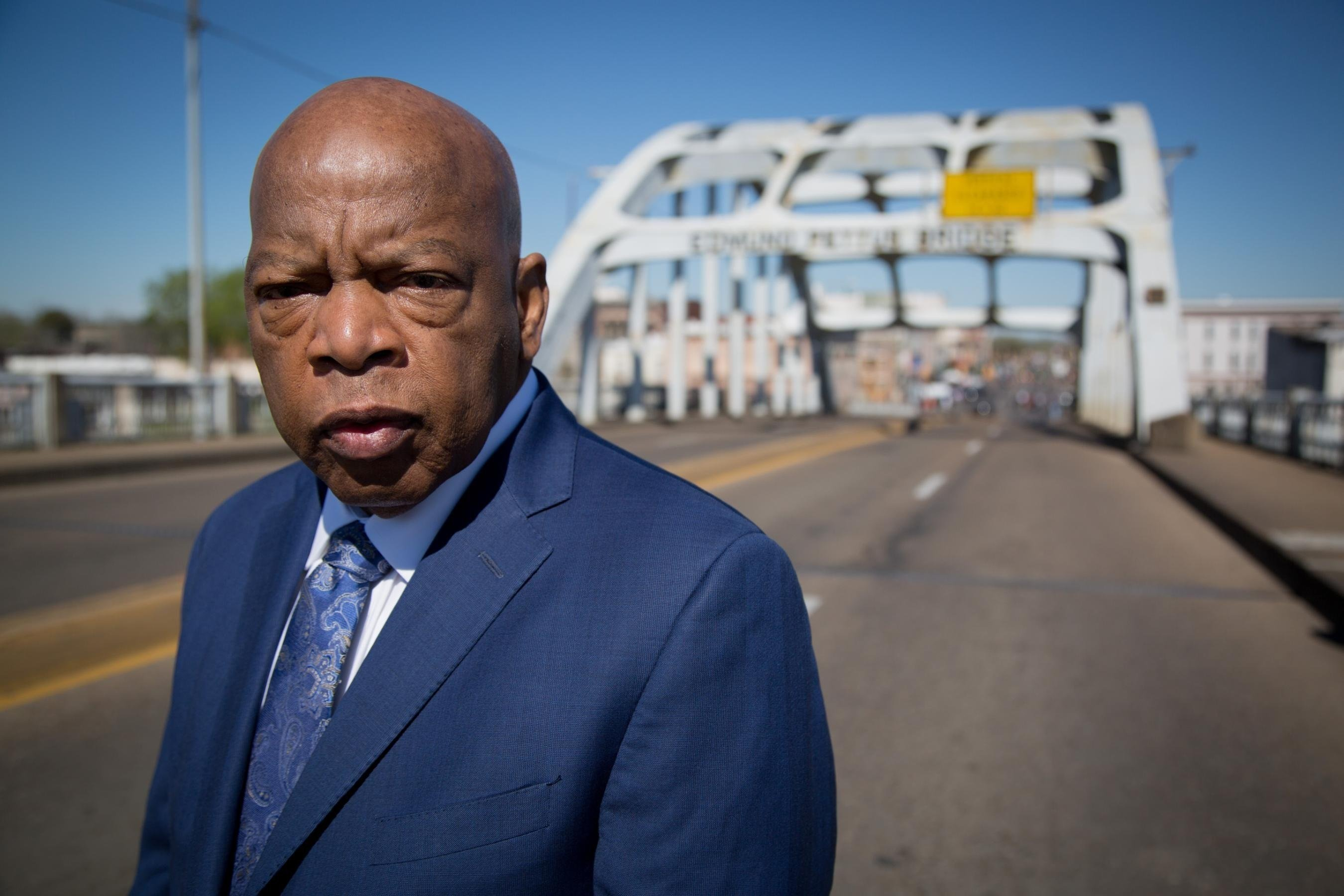 Congressman and civil rights icon John Lewis is seen here in Selma, Alabama.