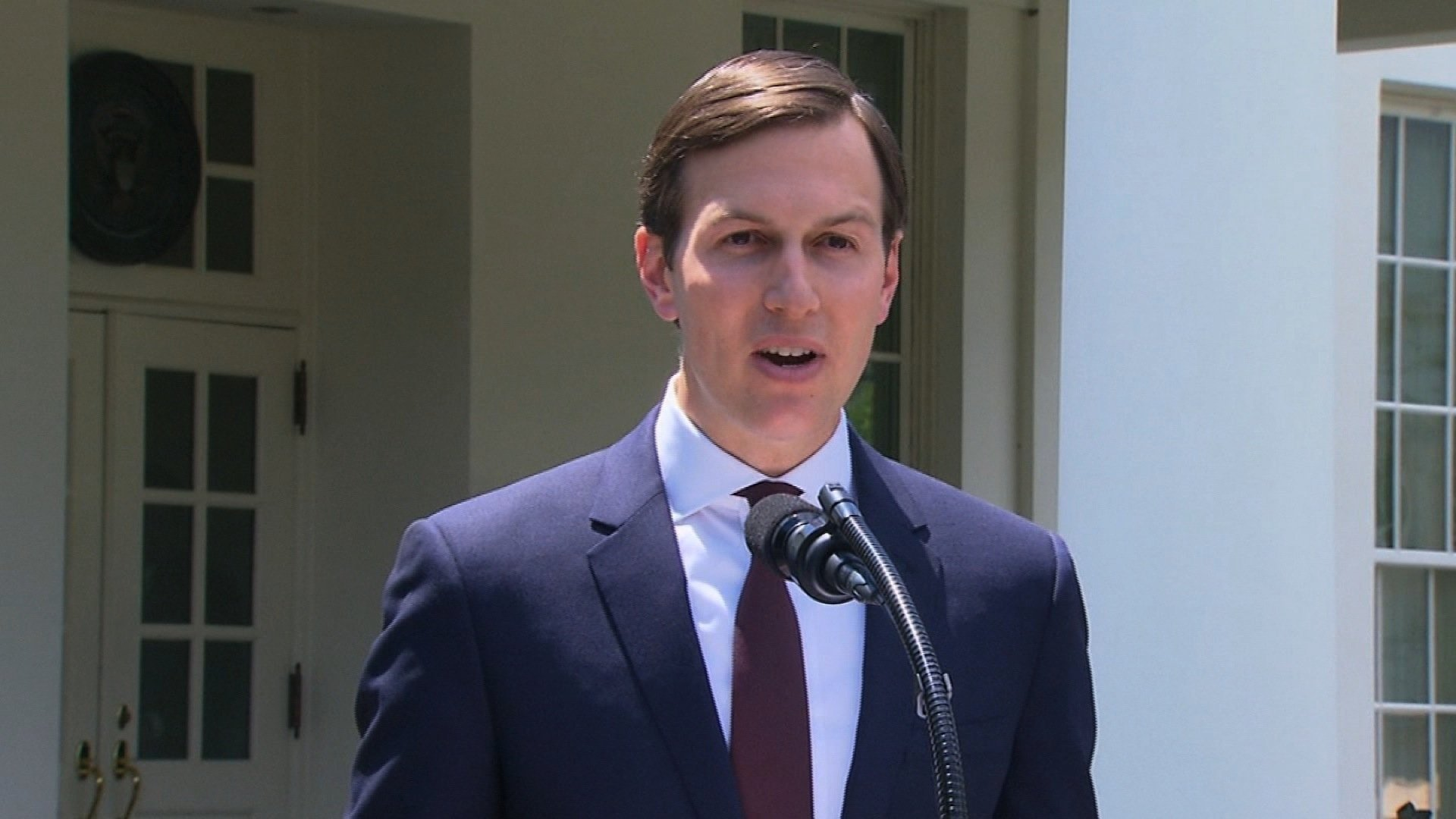 Jared Kushner is seen here speaking at the White House in 2017. (File Photo)