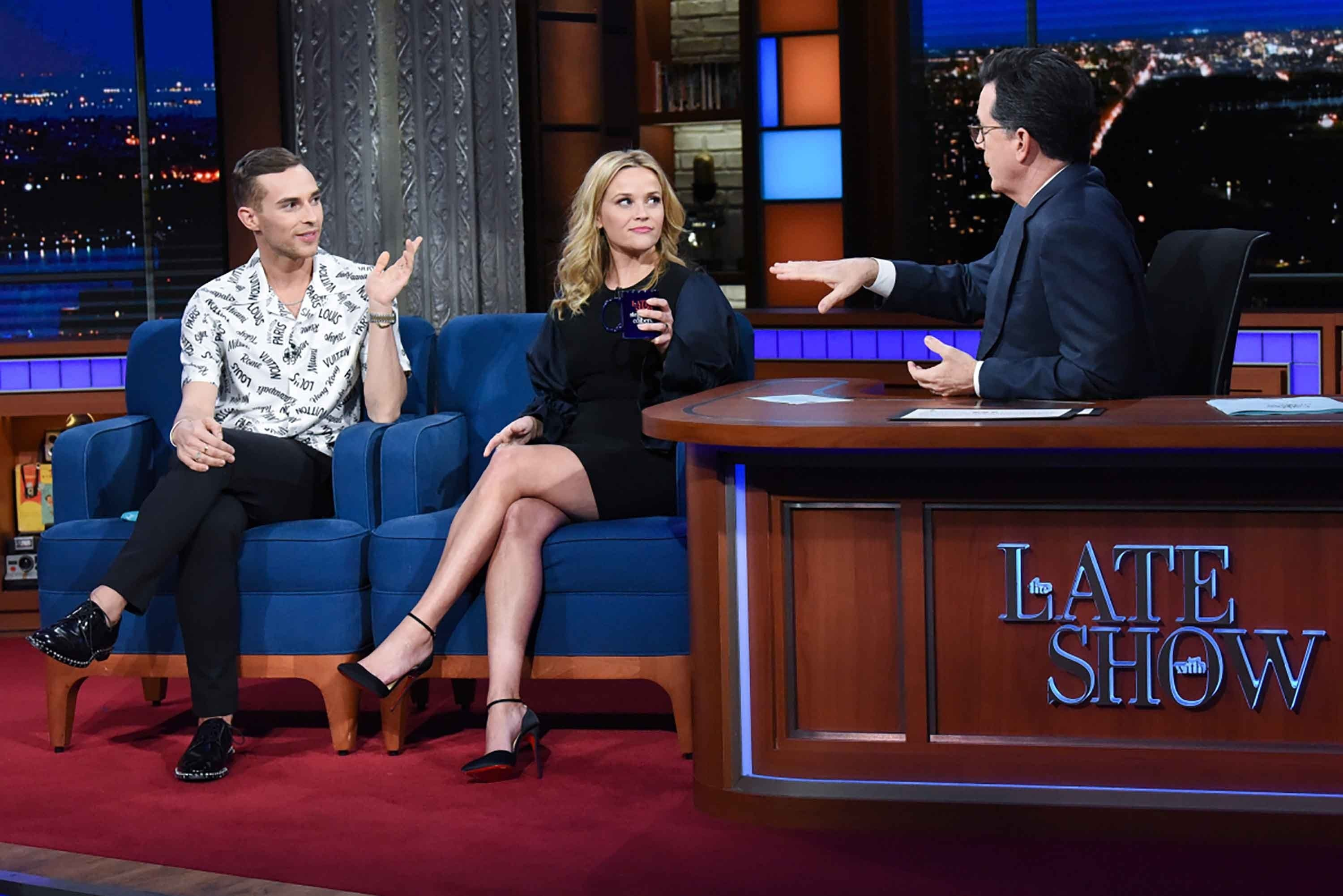 "Adam Rippon and Reese Witherspoon got to meet Wednesday, March 7, 2018 on ""The Late Show with Stephen Colbert""."