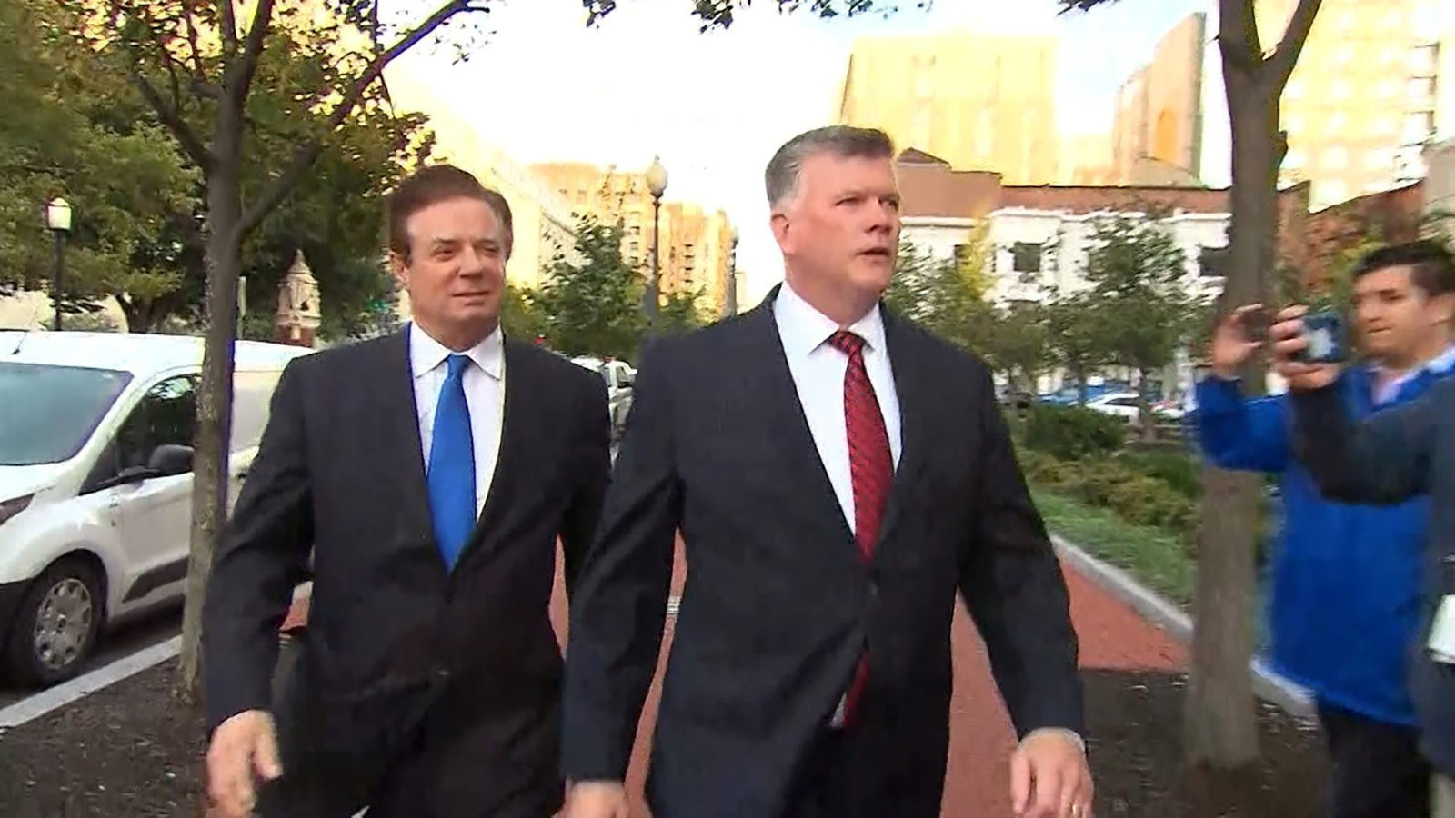 Former Trump campaign chairman Paul Manafort has entered a plea of not guilty to charges of bank fraud and tax crimes in federal court in Alexandria, Virginia.
