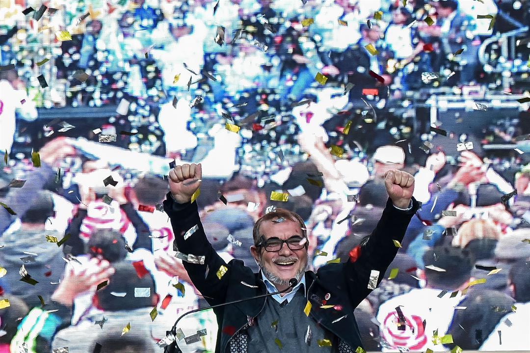Former FARC leader Rodrigo Londoño has abandoned his bid for Colombia's presidency.