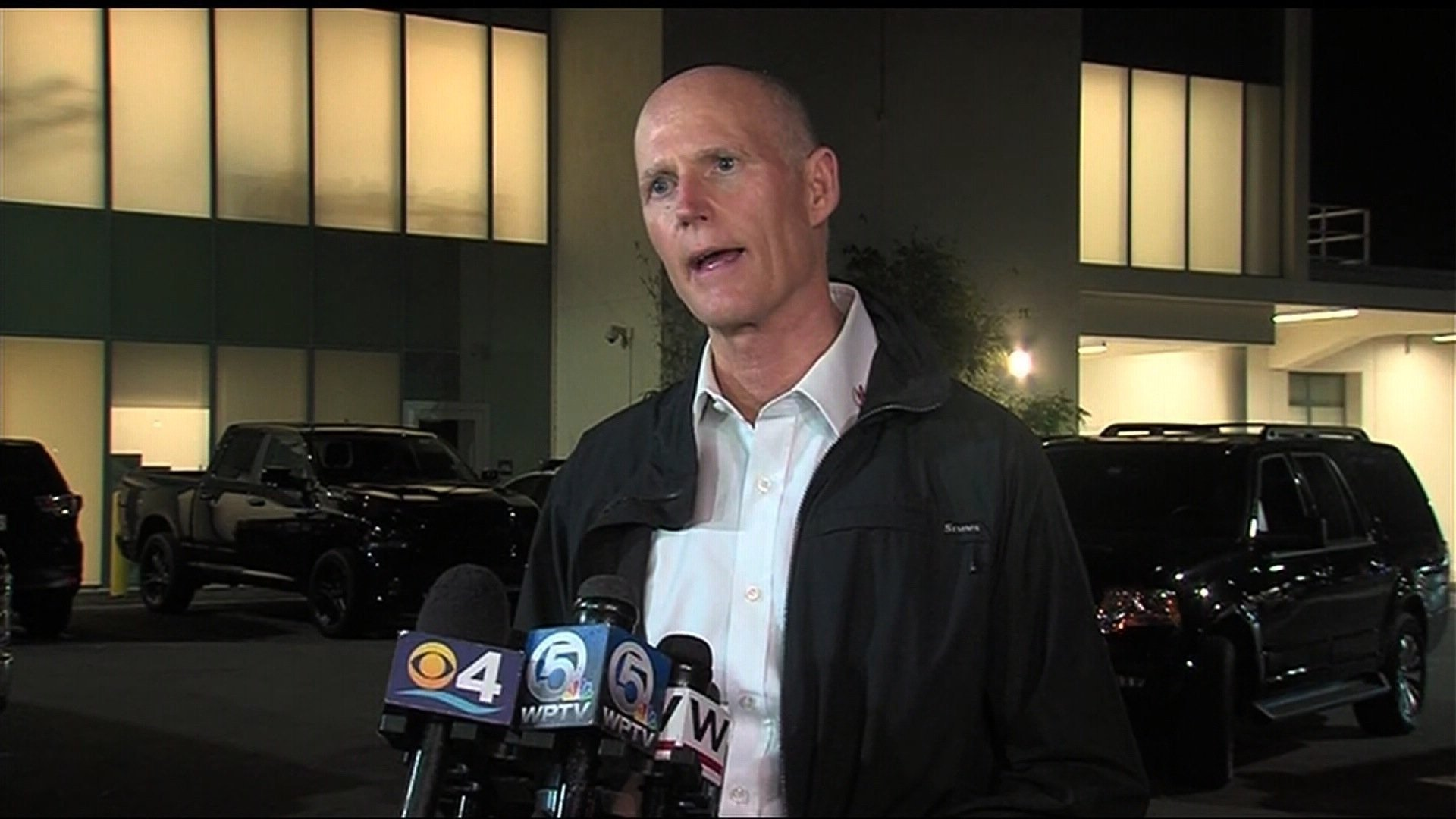 **Embargo: West Palm Beach-Ft. Pierce, FL**  Florida Gov. Rick Scott speaking about gun control laws in the state following the Parkland school shooting that took the lives of 17 people on February 14, 2018.