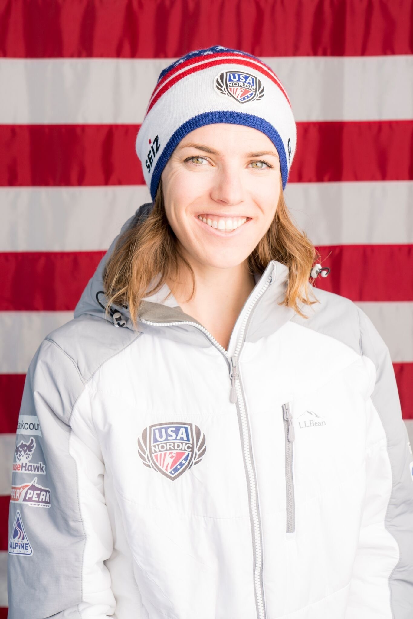 Abby Ringquist is a US Olympic ski jumper who made her Olympic debut at the XXIII Winter Games in PyeongChang, South Korea.   Full Credit: Ben Pieper Photography/Point Productions, LLC
