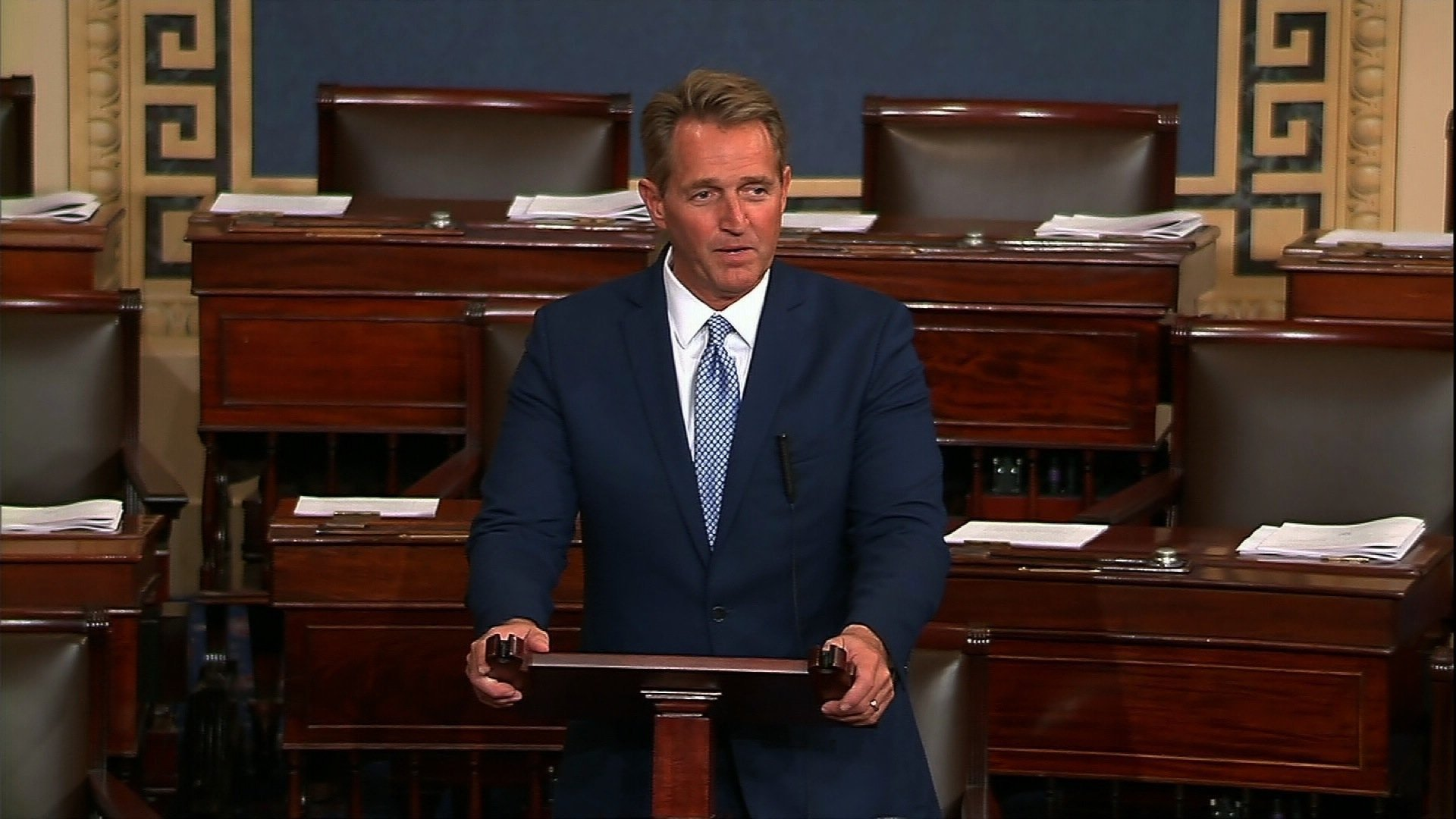 Arizona Republican Sen. Jeff Flake has threatened to introduce legislation to nullify the President's tariffs if they are anything like what Donald Trump is predicting.