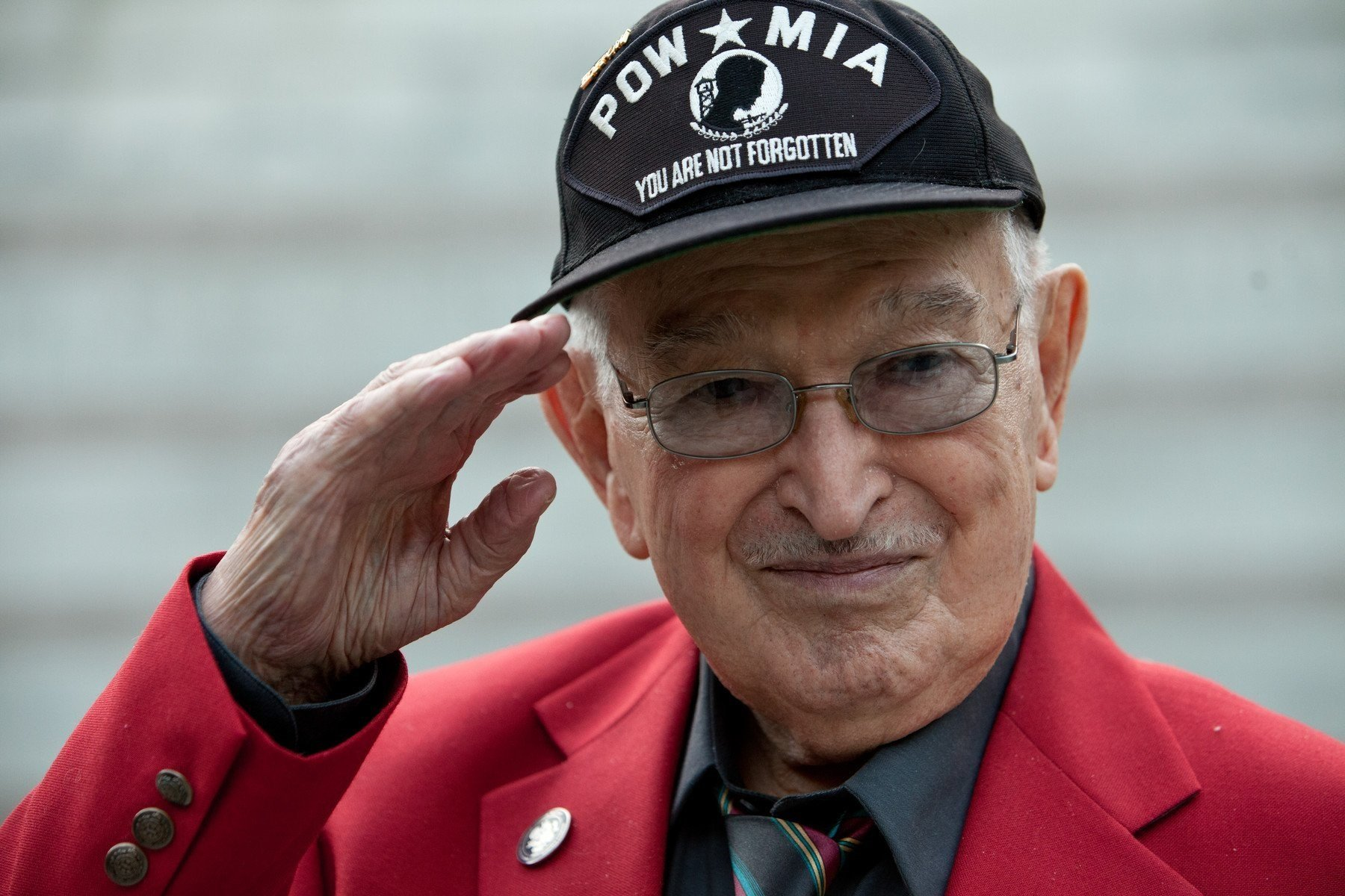 Anthony C. Acevedo, 93, an Army medic who documented the horrors inside a Nazi slave camp, was laid to rest Thursday during a ceremony at Riverside National Cemetery.  Credit: Courtesy US Holocaust Memorial Museum