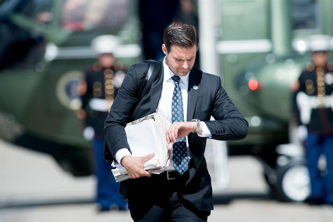 President Donald Trump's longtime personal aide John McEntee was fired and escorted from the White House on Monday, three sources with knowledge of the matter told CNN.  CREDIT: Brendan Smialowski/AFP/Getty Images