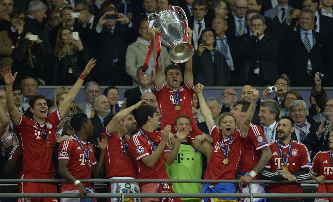 Thomas Mueller lifted the Champions League with Bayern Munich in 2013.
