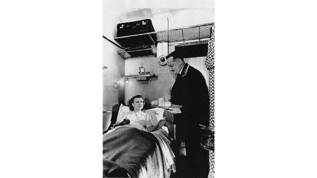 Sleeper travel was initially first-class only. Pictured here: The First Class sleeping compartment on the North Belle.  CREDIT: Courtesy Science and Society Picture Library/Amberley Books
