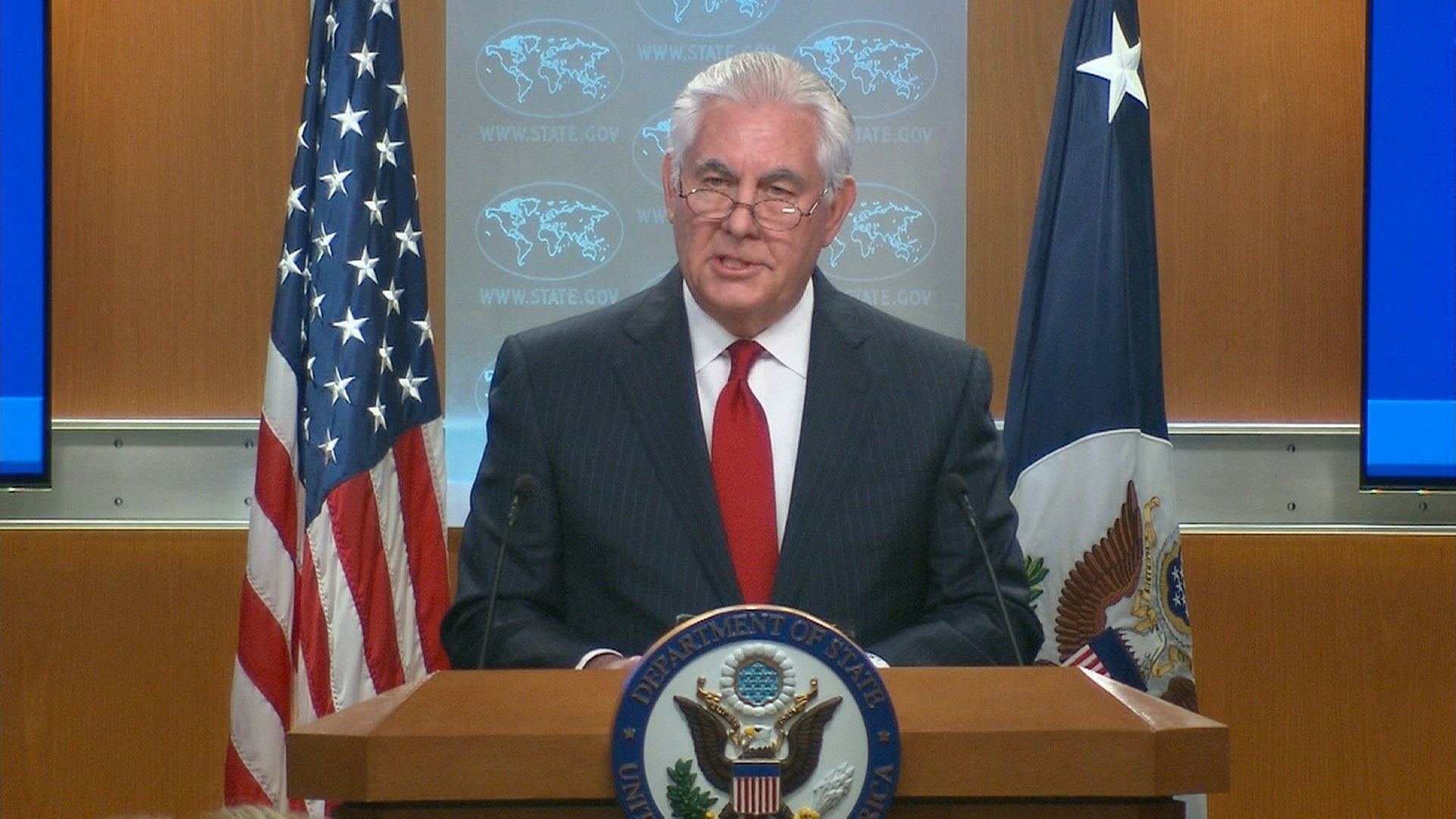 Secretary of State Rex Tillerson will meet with his senior staff ?Wednesday morning to discuss the road ahead after his unceremonious firing a day earlier.
