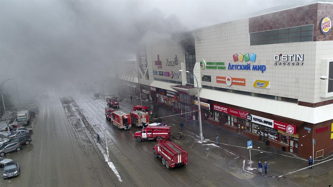 Dead and Injured by Fire in a Shopping Mall in Siberia, Russia