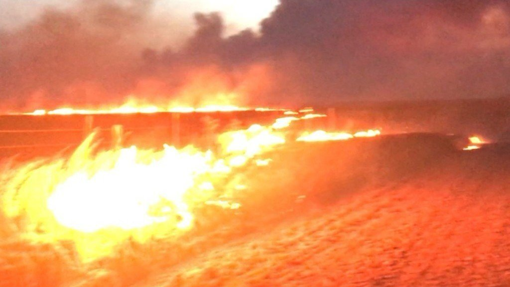 Hunter burned, 100s of properties evacuated in Oklahoma Wildfires