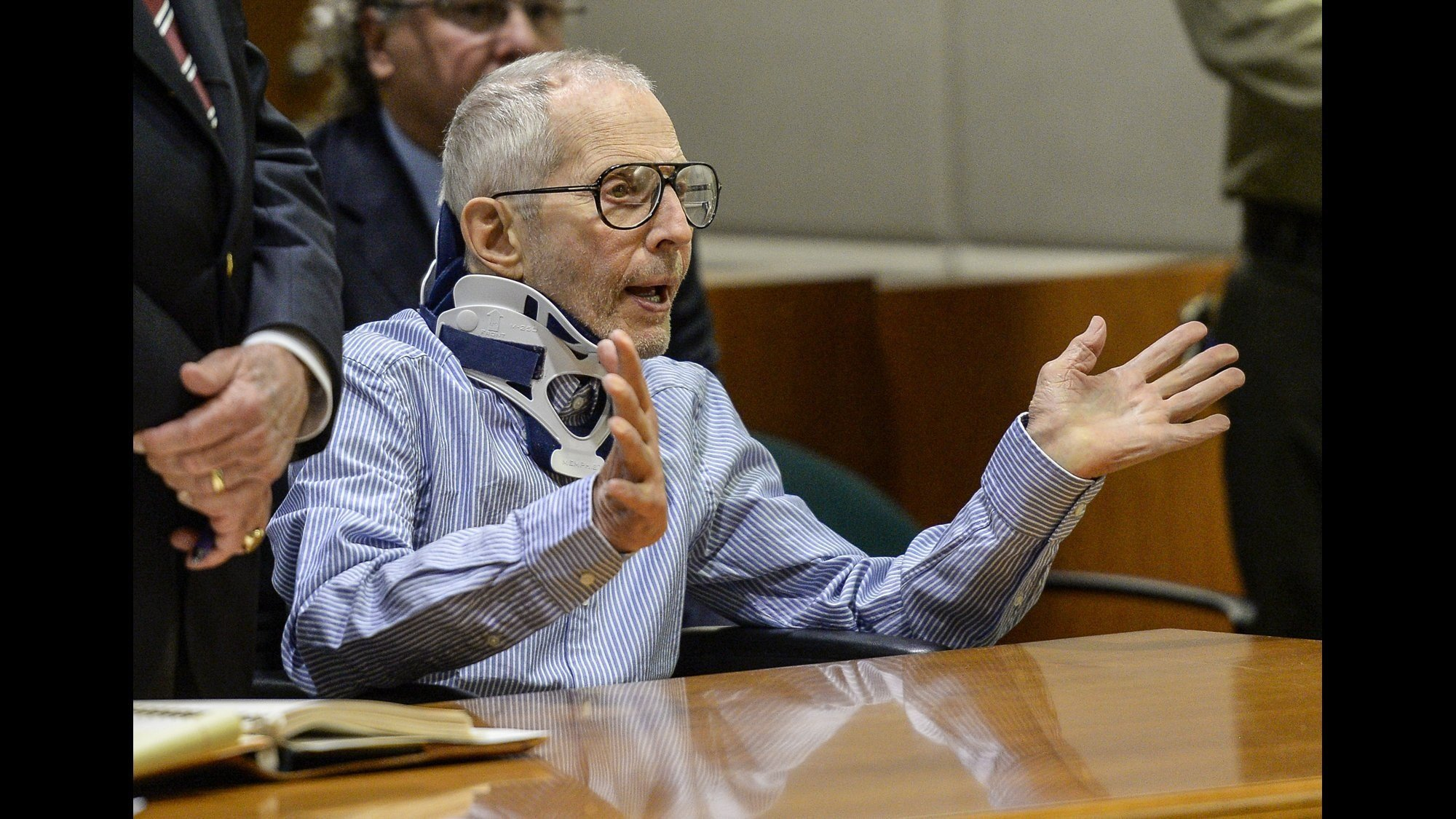 Real Estate Heir Robert Durst appears in the Airport Branch of the Los Angeles County Superior Court on November 7, 2016 in Los Angeles, California.