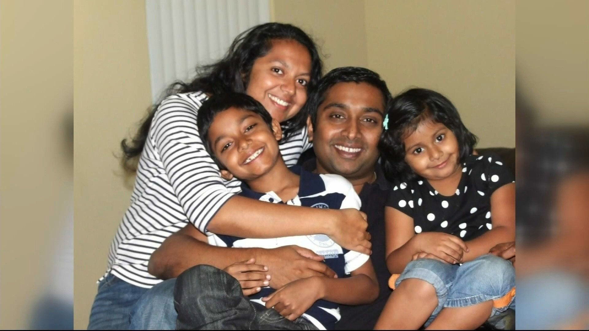 **Embargo: Los Angeles, CA**  Sandeep and Soumya Thottapilly are seen here with their children Siddhant, 12, and Saachi, 9.