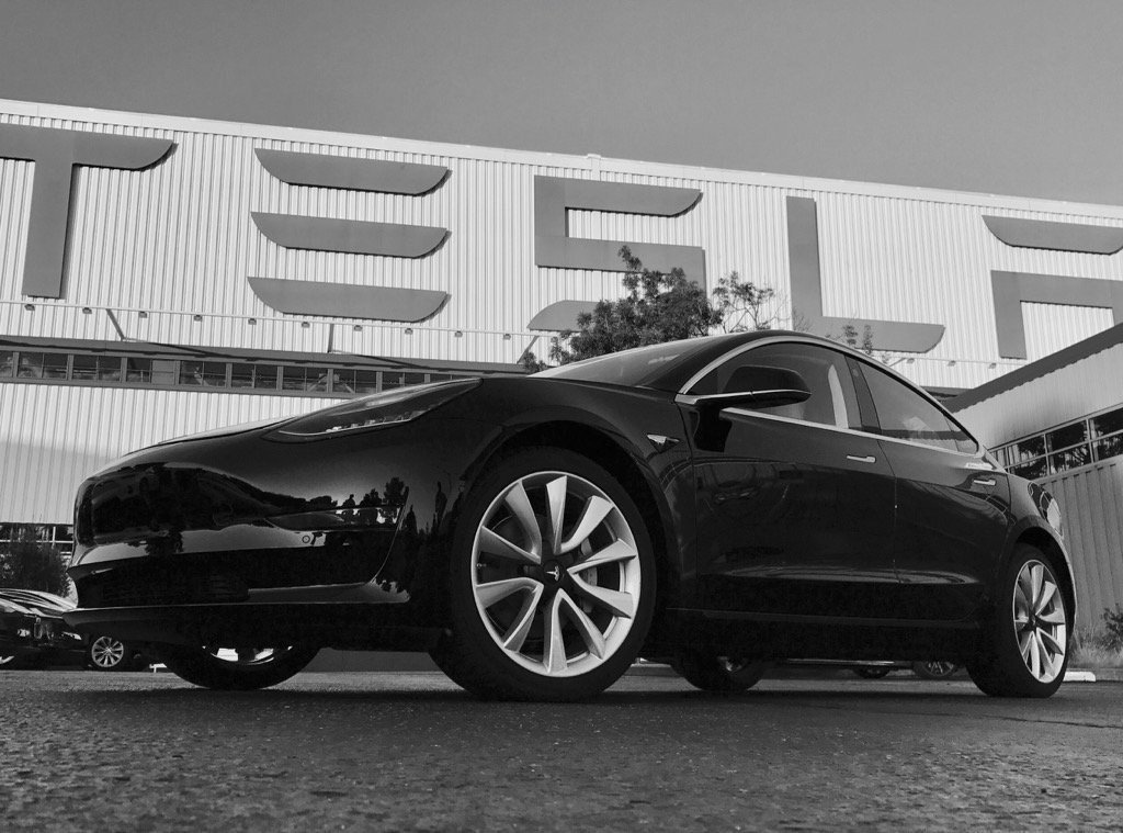 Tesla is producing about 2,000 of its Model 3 sedans a week