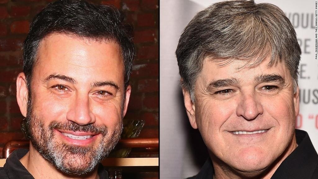 A week after his online war of words with Fox News host Sean Hannity Jimmy Kimmel had the opportunity to comment on Monday's surprising courtroom revelation that Hannity was a client of President Donald Trump's lawyer Michael Cohen