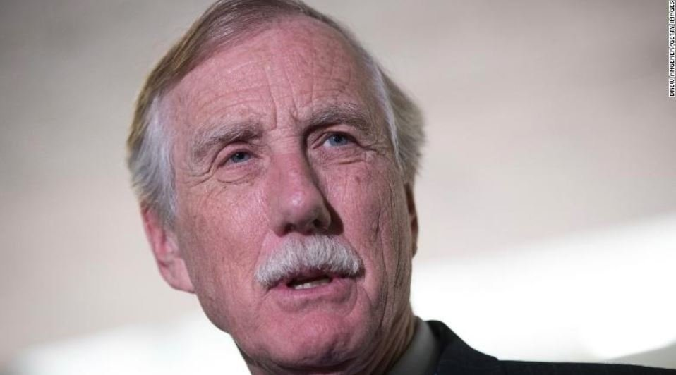 Sen. Angus King said CIA Director Mike Pompeo does not yet have his vote to be President Donald Trump's next secretary of state