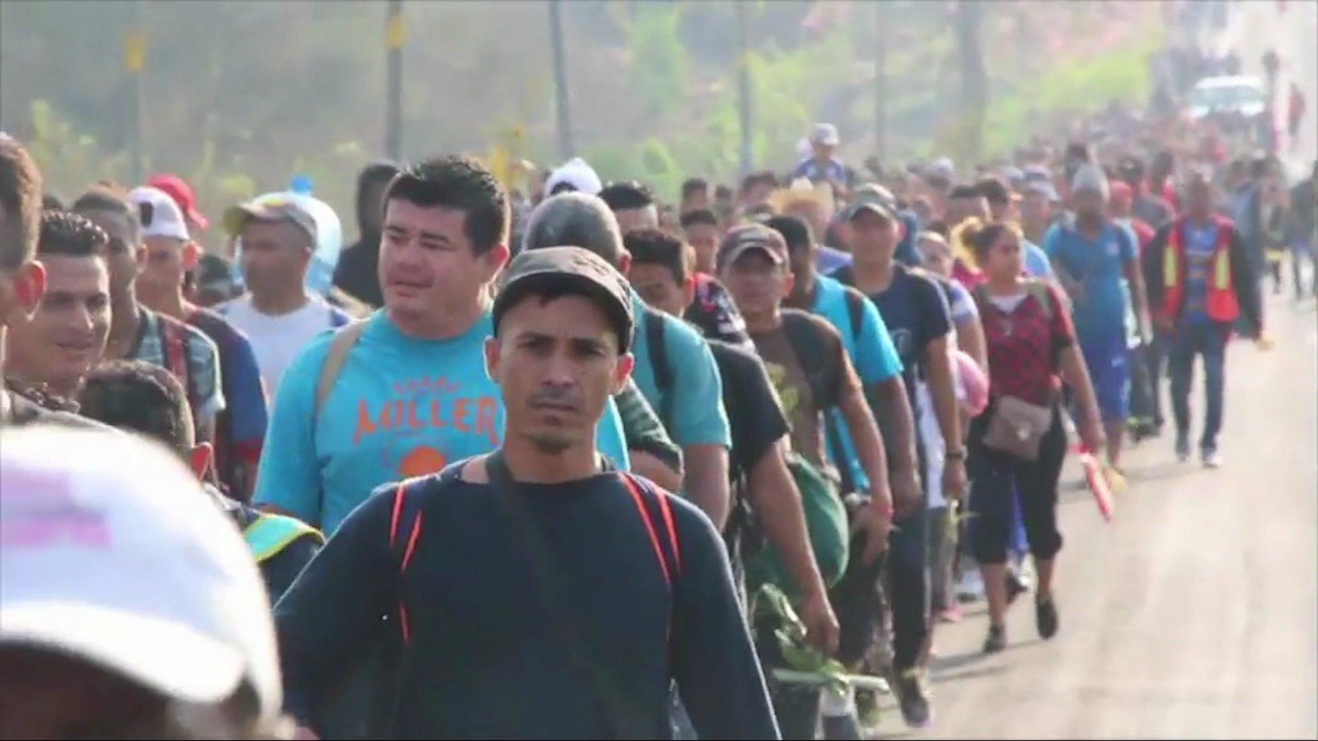 50 members of migrant caravan reach Mexico, US border