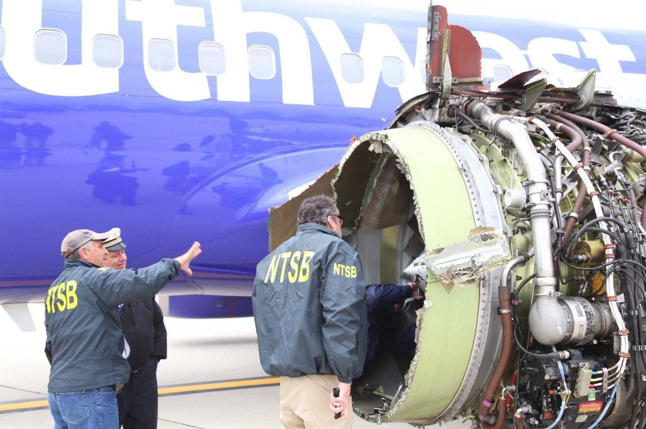 U.S.  regulator to order jet engines inspection after Southwest explosion